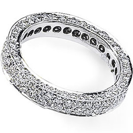 2.01 Carat Ladies Diamond Eternity Band 18k GIA VS2-SI1 clarity G-H color #R40111