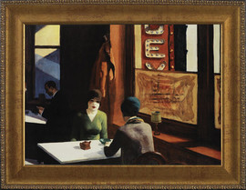 """Chop Suey - Edward Hopper - Framed Canvas Artwork 391 24.5"""" x 34.5"""""""