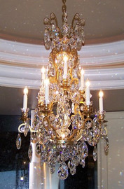 French Baroque Louis XIV Crystal Chandelier #1