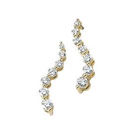 Authentic Journey 1 CT Diamond Snake Earrings 14k