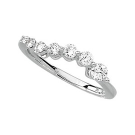 5932 Authentic Journey Natural Diamond & 14K White Gold 1 Carat Ring