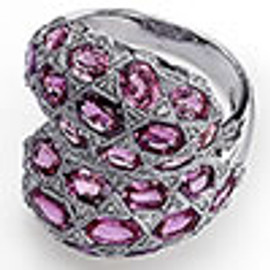11.40 Carat Ladies Oval Pink Sapphire Wide Band Ring GIA VS2-SI1 clarity GIA G-H color 18K #R32509