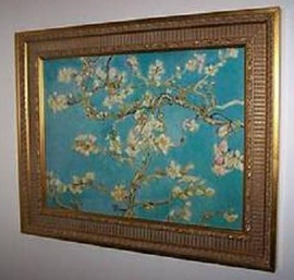 Branches of Almond Tree in Bloom, St. Remy - Vincent Van Gogh - Framed Canvas Artworkonly 1 size available