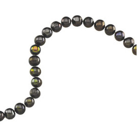 Black Freshwater Cultured Pearl 72 inch Rope Strand Necklace