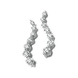 Authentic Journey 1|2 CT Diamond Snake Earrings 14k