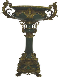 ***Lyvrich d'Elegance, Hand Painted Porcelain and Gilded Dior Ormolu | Beverly Park, Plant Stand Vase | Fantastic Entryway Centerpiece | 40.58t X 31.52w X 22.18d | 6380