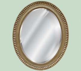 "Oval Shape Beveled Glass Reproduction Mirror, Custom Finish, A Classic Elements 37""t X 30""w x 3""d, 6692"
