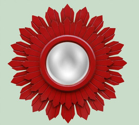 "Starburst Shape Convex Glass Reproduction Mirror, Custom Finish, Classic Elements 30.5""t X 30.5""w x 2""d, 6692"