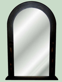 """Arched Glass Reproduction Mirror, Custom Finish, Classic Elements 38.5""""t X 24""""w x 3""""d, 6701"""