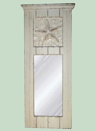 "Beach House Glass Reproduction Mirror, Custom Finish, Classic Elements 32""t X 10""w x 3""d, 6703"