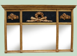 "Mantle or Buffet Glass Mirror, Custom Finish, Classic Elements Reproduction 65""w X 41""t X 4""d, 6713"