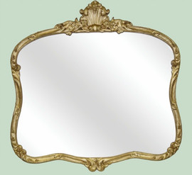 "Mantle or Buffet Glass Mirror, Custom Finish, Classic Elements Reproduction 36""w X 34""t X 3""d, 6714"