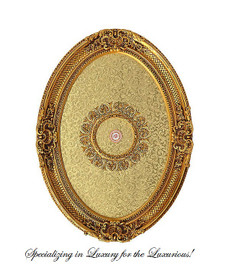 """Architectural Accents Crosshatch & Flourish Pattern, 6730 Oval Ceiling Medallion, 3'7""""L X 2'8""""w X 3.5"""" Thick"""