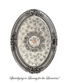 """Architectural Accents Classic Floral and Crosshatch Pattern, 6733 Oval Ceiling Medallion, 3'7.25""""L  X 2'7.5""""w X 3.5"""" Thick"""