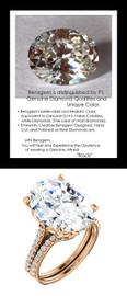 9.32Ct. Oval Shape Benzgem: Best G-H-I-J Diamond Quality Imitation: GuyDesign® Louis XIV Baroque Scroll Engagement Ring: Natural Pavé Diamonds Custom 18 Karat Rose Gold Jewelry, 6615