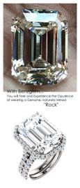 Halo Engagement Rings, Emerald Cut Engagement Rings, Diamond Semi-Mount, Platinum, Simulated Diamond, Mine Diamond, Wedding Sets, 6631