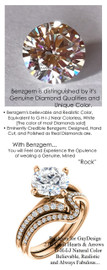 2.04 Benzgem by GuyDesign® Luxury 02.04 Carat Hearts & Arrows Round Fantasy Diamond Natural Diamond Semi-Mount, White, Faintest Yellow Tint, G-H-I-J, Best Artificial Diamond, Classic Bypass Solitaire Engagement Ring, 18 Karat Rose Gold, 6639
