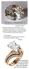 2.66 Benzgem by GuyDesign® Luxury 03.00 Carat Oval Shape Fantasy Diamond Natural Diamond Semi-Mount, White, Faintest Yellow Tint, G-H-I-J, Best Artificial Diamond, Classic Bypass Solitaire Engagement Ring, 18 Karat Rose Gold, 6640