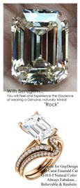 3.95 Benzgem by GuyDesign® Luxury 03.95 Carat Emerald Asscher Cut Fantasy Diamond Natural Diamond Semi-Mount, White, Faintest Yellow Tint, G-H-I-J, Best Artificial Diamond, Classic Bypass Solitaire Engagement Ring, 18 Karat Rose Gold, 6644