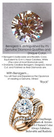 4.04 Benzgem by GuyDesign® 04.04 Carat Hearts & Arrows Round Fantasy Diamonds Natural Diamond Semi-Mount, White, Faintest Yellow Tint, G-H-I-J, Best Artificial Diamond, Classic Bypass Double Solitaire Engagement Ring, 18 Karat Rose Gold, 6646