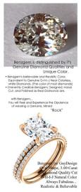 2.66 Ct. Hand Cut Oval Shape Benzgem: Best G-H-I-J Diamond Quality Color Imitation; GuyDesign® Contemporary Elegance Mined Diamond encrusted Engagement Ring: Fine 18k Rose Gold Custom Jewelry - 6656