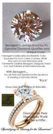 2.00 Benzgem by GuyDesign® White, Faintest Yellow Tint, G-H-I-J, Best Paste Diamond, Luxurious 2 Carat Hearts & Arrows, Ideal Cut, Fantasy Diamond with Natural Diamond Semi-Mount, Contemporary Elegance Engagement Ring, 18 Karat Rose Gold, 6658