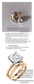 3.50 Benzgem by GuyDesign® G-H-I-J Natural Color, Most Believable fake Diamond in the World, Luxurious 03.5 Carat Asscher Cut Dream Diamond, Classic Tiffany Solitaire Engagement Ring, 18 Karat Rose & White Gold, 6681