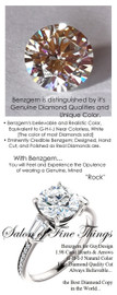 1.98 Benzgem by GuyDesign®, Most Believable fake Diamond in the World, 01.98 Carat Hearts & Arrows Fantasy Diamond, VS Clarity, Twin Baguette and Round Accent Solitaire Ring, Platinum, 6686