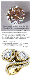 4.00 Benzgem by GuyDesign® 4 Carat Hearts & Arrows Fantasy Diamond, Diamond White, Cream Tint, G-H-I-J Color, Most Believable Fake Diamond, Natural G-H Color SI1 Clarity Diamond Semi-Mount, Bypass délegance Double Solitaire Ring, 18K Yellow Gold, 66