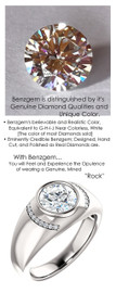 1.98 Benzgem by GuyDesign® 8x8mm.= 01.98 Carat Hearts & Arrows Round-Cut Diamond Simulant, 14k White Gold Men's Absalom Ring 6738, G-H Color SI1 Clarity 20 x .005= .10 Carat Natural Diamond Semi-Mount