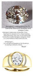 3.00 Benzgem by GuyDesign® 9X9mm.= 03.00ct. Oval Shape, Fantasy Diamond, 14k Yellow Gold Men's Absalom Ring 6739, G-H Color SI1 Clarity 22 x .005= .11 Carat Natural Diamond Semi-Mount