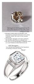 3.50 Benzgem by GuyDesign® 9x9mm.= 03.50ct. Asscher 73 Facet Shape, Fantasy Diamond, Platinum Men's Absalom Ring 6744, G-H Color VS Clarity 20 x .005= .10 Carat Natural Diamond Semi-Mount