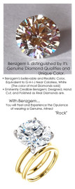 10.21 Benzgem by GuyDesign® 14x14mm= 10.21 ct. Hearts & Arrows Round Shape, Believable G-H-I-J Natural Color Fantasy Diamond, 18K Gold; Ladies Classic Tiffany Ring 6747