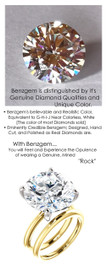 12.55 Benzgem by GuyDesign® 15x15mm= 12.55 ct. Hearts & Arrows Round Shape, Believable G-H-I-J Natural Color Fantasy Diamond, 18K Gold; Ladies Classic Tiffany Ring 6748