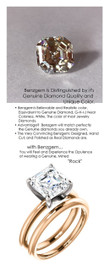 2.66 Benzgem by GuyDesign® 8x8mm= 02.66 ct. Royal Asscher Cut 73 Facets, Believable G-H-I-J Natural Color Fantasy Diamond, 14K Two Tone Gold; Ladies Classic Tiffany Ring 6754