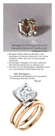 3.79 Benzgem by GuyDesign® 9x9mm= 03.79 ct. Royal Asscher Cut 73 Facets, Believable G-H-I-J Natural Color Fantasy Diamond, 14K Two Tone Gold; Ladies Classic Tiffany Ring 6755