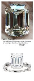Emerald Cut Engagement Rings, White Gold, Wedding Rings, Simulated Diamond, Diamonds, Bill Blass, Wedding Sets, 6761