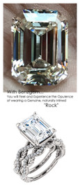 Emerald Cut Engagement Rings, White Gold, Wedding Rings, Simulated Diamond, Diamonds, Bill Blass, Wedding Sets, 6762