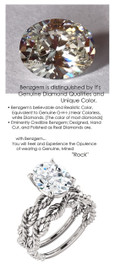 2.66 Benzgem by GuyDesign® Oval Shape Best Diamond Copy in the World; 02.66 ct. G-H-I-J Natural Color, 14k White Gold Braided Rope Engagement Ring 6769