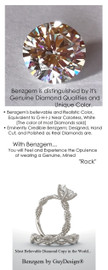 1.91 Benzgem by GuyDesign® Hearts & Arrows Round Best Diamond Copy in the World; 01.91 ct. G-H-I-J Natural Color, 14k White Gold Braided Rope Engagement Ring 6770