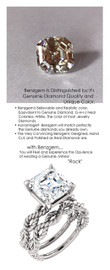 4.50 Benzgem by GuyDesign® Royal Asscher Shape Best Diamond Copy in the World; 04.50 ct. G-H-I-J Natural Color, 14k White Gold Nautical Themed Engagement Ring 6772