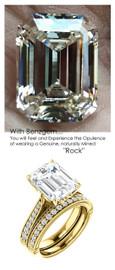 Emerald Cut Engagement Rings, Yellow Gold, Wedding Rings, Simulated Diamond, Diamonds, Wedding Sets, 6787