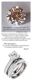 1.91 Benzgem by GuyDesign® Precise Diamond Cut, Believable G-H Color Simulated 01.91 Ct. Hearts & Arrows Round Diamond, Mined Diamond Princess Accent Semi-Mount G-H-I Color VS Clarity, Custom 14k White Gold Channel Set Solitaire Ring 6803