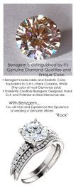 1.91 Benzgem by GuyDesign® Precise Diamond Cut, Believable I-J Color Simulated 01.91 Ct. Hearts & Arrows, American Ideal Cut Round Diamond, Mined Diamond Semi-Mount G-H Color VS Clarity, Custom 14k White Gold Graduated Accent Solitaire Ring 6810