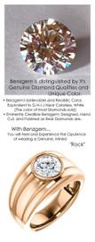 1.91 Benzgem by GuyDesign® 01.91 Carat Round-Cut, I-J Color Imitation Diamond, 18k Rose Gold Men's Large Rib Mason Ring 6837