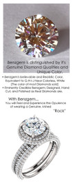 1.91 Carat, Luxury Round Cut Benzgem Solitaire, Benzgem Diamond Quality Color and Cut matches believably the Natural 168 Diamond Semi-Mount; GuyDesign® Halo Design Engagement or Right Hand Ring, 14k White Gold, 6900,
