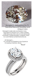 2.66 Carat, Luxury Oval Cut Benzgem Solitaire, Benzgem Diamond Quality Color and Cut matches believably the Natural 168 Diamond Semi-Mount; GuyDesign® Halo Design Engagement or Right Hand Ring, 14k White Gold, 6901,
