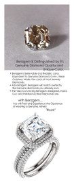 4.50 Carat, Luxury Asscher Cut Benzgem Solitaire, Benzgem Diamond Quality Color and Cut matches believably the Natural 180 Diamond Semi-Mount; GuyDesign® Halo Design Engagement or Right Hand Ring, 14 Karat White Gold, 6903,