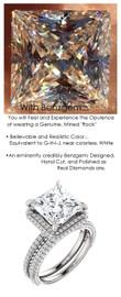 Halo Engagement Rings, Princess Cut Engagement Rings, Diamond Semi-Mount, White Gold, Simulated Diamond, Mine Diamond, Wedding Sets, 6905