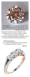 4.50mm Anniversary Ring by GuyDesign®, .33 Carats x 3 Hand Cut H&A Round Shape G-H Color Excellent Diamond Quality Benzgem Diamond Simulant, Custom Two-Tone White & Rose Gold Jewelry 6932